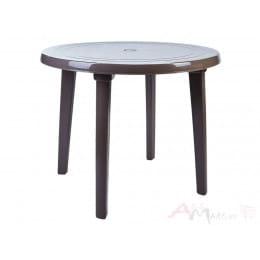 Стол Алеана пластиковый круглый d90 капучино