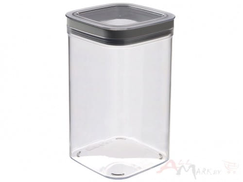 Емкость для сыпучих продуктов Curver Dry cube 1.8 л серый