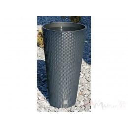 Горшок пластиковый Prosperplast Rato tubus anthracite Ø 40 см