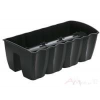 Горшок пластиковый Prosperplast Crown anthracite 58 x 27.8 x 20.1 см (антрацит)