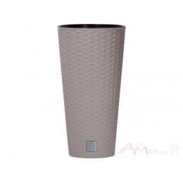 Горшок пластиковый Prosperplast Rato tubus mocca Ø 40 см (мокко)