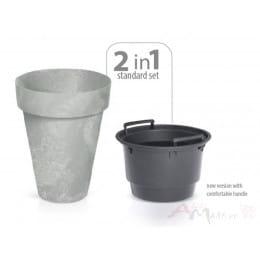 Горшок Prosperplast Cube slim beton 355 , бетон