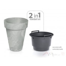 Горшок Prosperplast Cube slim beton 460 , бетон