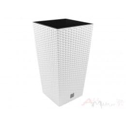 Горшок пластиковый Prosperplast Rato square white 40 x 40 x 75 см