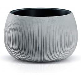 Горшок Prosperplast Beton Bowl 480, серый бетон