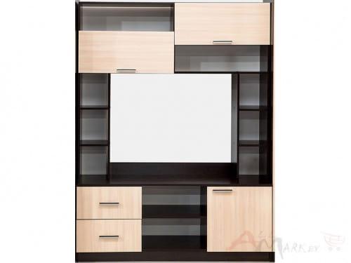 SV-мебель Гамма 16 Тумба для ТВ дуб венге / дуб млечный