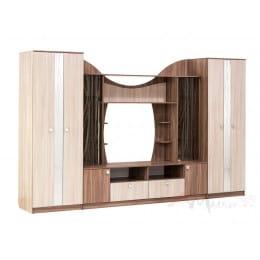 Гостиная SV-мебель Гамма 15 ясень шимо темный / ясень шимо светлый