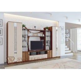Гостиная SV-мебель Гамма 15 слива валлис / дуб млечный