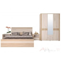 Спальня Интерлиния Коламбия-4 дуб сонома / дуб белый