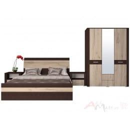 Спальня Интерлиния Коламбия-4 венге / дуб серый