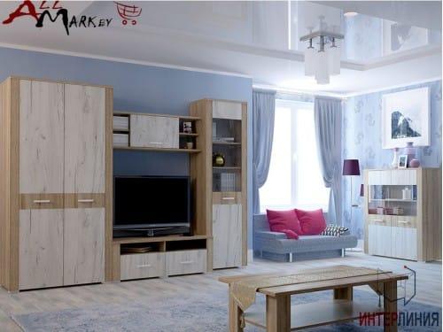 Корпусная мебель для гостиной Коламбия КЛ 1-1 Интерлиния