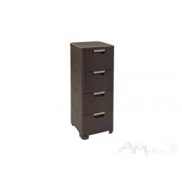 Комод Curver Style rattan drawer DBR 210 коричневый