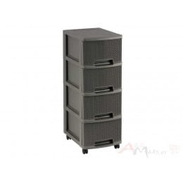 Комод Curver Knit drawer 4 x 10 L коричневый