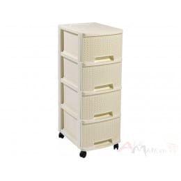 Комод Curver Knit drawer 4 x 10 L кремовый