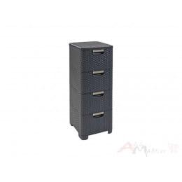 Комод Curver Style rattan drawer DRG 308 графит