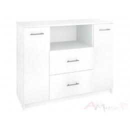 Комод Кортекс-мебель Модерн 120-2д2ш, белый