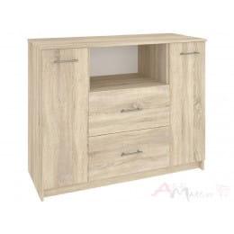 Комод Кортекс-мебель Модерн 120-2д2ш, дуб сонома