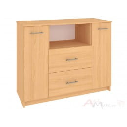 Комод Кортекс-мебель Модерн 120-2д2ш, ольха