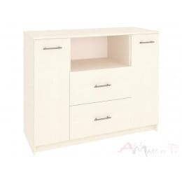 Комод Кортекс-мебель Модерн 120-2д2ш, венге светлый
