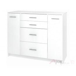 Комод Кортекс-мебель Модерн 120-2д4ш, белый