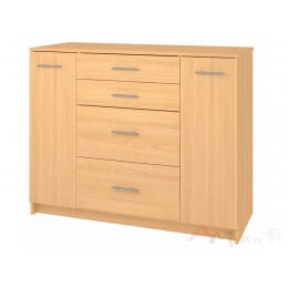 Комод Кортекс-мебель Модерн 120-2д4ш, ольха