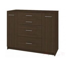 Комод Кортекс-мебель Модерн 120-2д4ш, венге