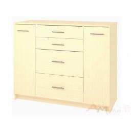 Комод Кортекс-мебель Модерн 120-2д4ш, венге светлый