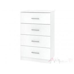 Комод Кортекс-мебель Модерн 60-4ш, белый