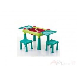 Детский набор Keter Creative Play Table + 2 stools бирюзовый