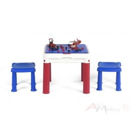 Детский набор Keter ConstrucTable + 2 Stools