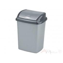 Контейнер для мусора Curver Dominik 10 л серебро / графит