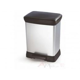 Контейнер для мусора Curver Deco bin 30 л черный / серебро