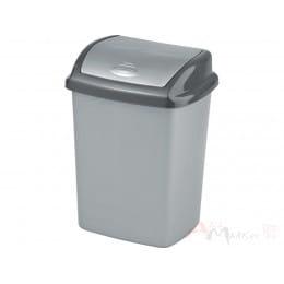 Контейнер для мусора Curver Dominik Refuse Bin Swing 25L серый / графит
