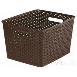 Корзинка Curver My style box L коричневый