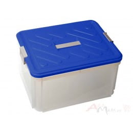 Контейнер с ручкой Curver Box Vanity 30 L , прозрачный / синий