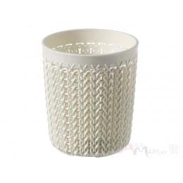 Корзинка Curver Knit round organizer s белый