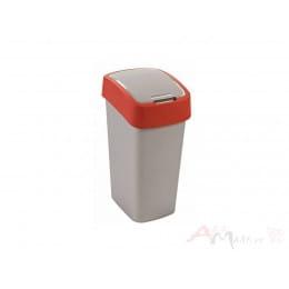 Контейнер для мусора Curver Flip Bin 50L , красный