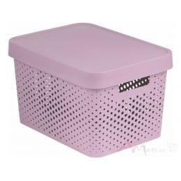 Контейнер Curver Infinity 17l + lid dots розовый