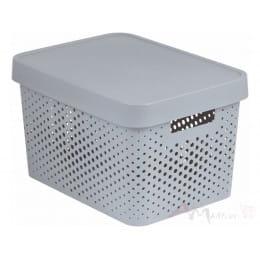 Контейнер Curver Infinity 17l + lid dots серый