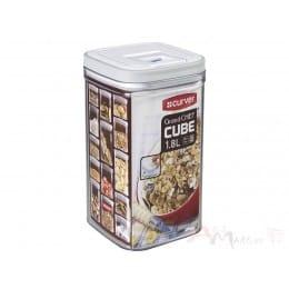 Емкость для сыпучих продуктов Curver Grand chef cube 1,8 л , серый