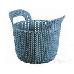 Корзинка Curver Knit round XS синий