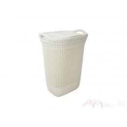 Корзина бельевая Curver Knit Laundry Hamper 57 л белый