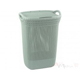 Корзина бельевая Curver Knit laundry hamper 57l, синий