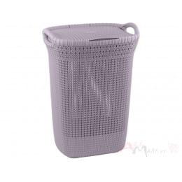 Корзина бельевая Curver Knit Laundry Hamper 57 л фиолетовая