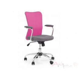 Кресло компьютерное Halmar Andy серо-розовое