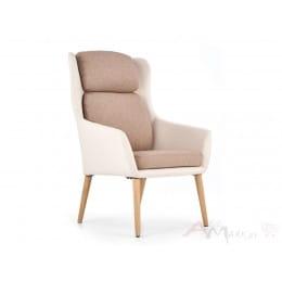 Кресло Halmar Purio бежево-коричневое