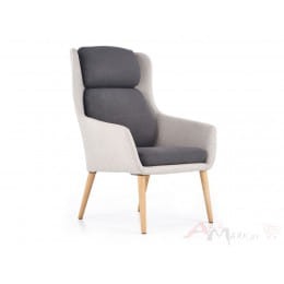 Кресло Halmar Purio серо-синее