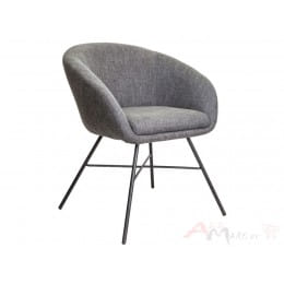 Кресло Sedia AMUR серый / черный