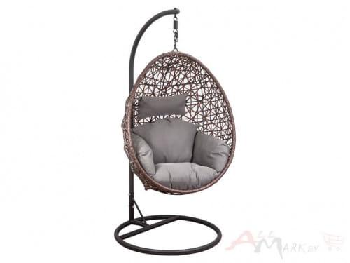 Подвесное кресло-кокон Sedia Bounty (Баунти) коричневый/серо-бежевый