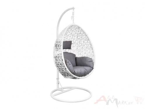 Подвесное кресло-кокон Sedia Bounty (Баунти) белый/серый